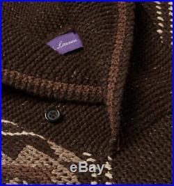 $1,695 Ralph Lauren Purple Label Cashmere Silk Southwest Crochet Shawl Sweater