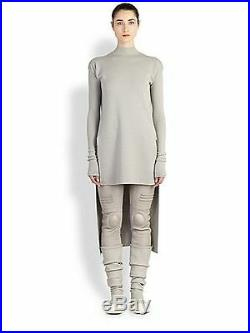 $1235 Authentic RICK OWENS VIRGIN WOOL Knitted Tunic Top Dress Long Sweater L