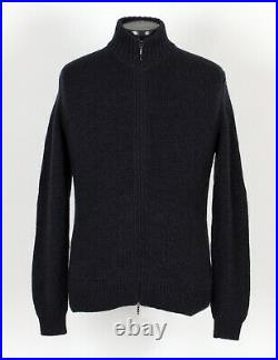 $1650 LORO PIANA 100% BABY CASHMERE Full Zip Sweater Blue 50 M
