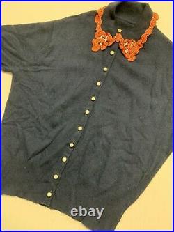1950s Beaded Cashmere Perfecf Sweater Medium VINTAGE