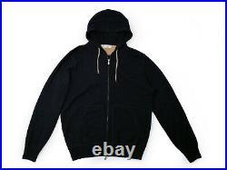 $2,225 BRUNELLO CUCINELLI 100% Cashmere Hoodie Hooded Sweater Navy 48 M Medium