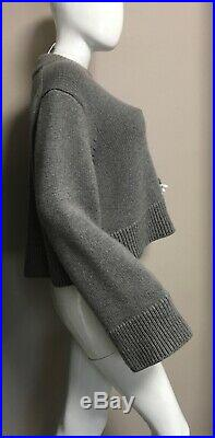 $2350 Auth. Celine Phoebe Philo Gray Oversized Sweater 2018