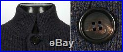 $2595 BRUNELLO CUCINELLI 100% CASHMERE Thick Cardigan Sweater Blue M Medium