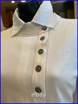 $3150 CHANEL 2009 Logo Moscow Sweater 36 38 40 4 6 8 Top Blouse Jacket M S L 09a