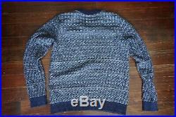 $320 Mint S. N. S. Sns Herning Navy Basket Weave Stark Sweater Jumper Medium