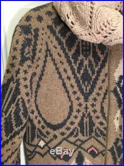 49. Ivko Anthropologie Art Deco Intarsia Sweater Coat NWOT 40 M