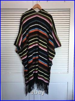 57. Nwot Anthropologie Carolina K Striped South Western Poncho M Alpaca