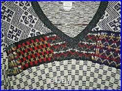 610 DRIES VAN NOTEN Luxus Xmas Sweater purple / snow / knitted 100 wool