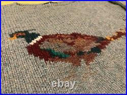 80s Vintage Ralph Lauren Iconic Pheasant 100% Wool Hand Knit Sweater Small RARE