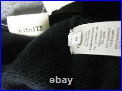 $880 Khaite Asymmetric Stretch Relaxed Slim Fit Cashmere Side Tie Sweater M Esme
