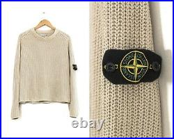 90s Vintage Mens STONE ISLAND Sweater Jumper Knitted Silk Size M