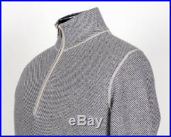 $935 LORO PIANA 100% CASHMERE Roadster Pull Light Sweater Blue 48 M Medium