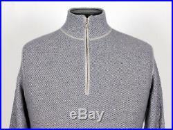 $935 LORO PIANA 100% CASHMERE Roadster Pull Light Sweater Blue 52 M Medium