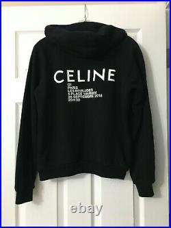 $960 Auth. Celine Hoodie Sweatshirt Sweater Top S/M