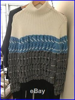 ALEXANDER WANG Fall/Winter 2014 Chunky Cable Knit Turtleneck Sweater MEDIUM
