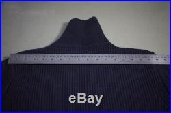 ANDERSEN ANDERSEN Zip navy neck roll-neck sweater merino