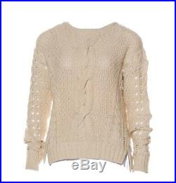 ASO Anastasia Steele Vince Cable Knit Sweater Medium