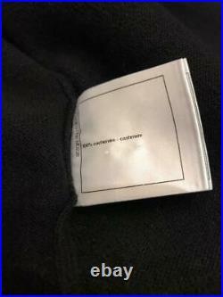 AUTH CHANEL Long sleeve Black Sweater cardigan knit 38 EU Rare