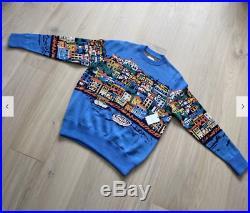 Aime Leon Dore Seatown Molyvos Knit Sweater Blue size MEDIUM