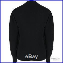 Alexander McQueen Black Dark Pink Intarsia Skull Sweater Jumper Knitwear L IT50