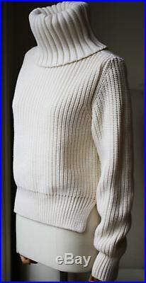Antonio Berardi Chunky Knit Wool Turtleneck Sweater Medium