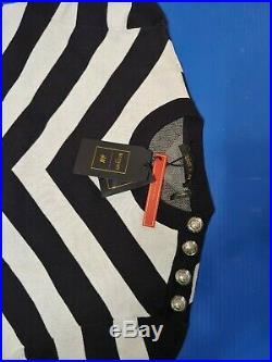BNWT Authentic Balmain x H&M Black and White Sweater sz. M