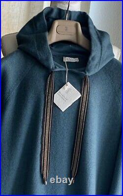 BRUNELLO CUCINELLI 100% Cashmere Hooded Monili Embellished Sweater Jacket NWT