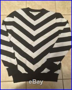 Balmain x H&M Black and White Chevron Sweater/Jumper med