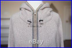 Brunello Cucinelli 100% cashmere monili embellish cardigan sweater size M
