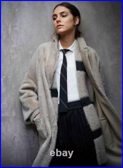 Brunello Cucinelli Cardigan Striped Metallic Striped Sweater Top Size M