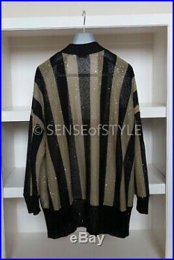 Brunello Cucinelli Cardigan Sweater striped monili patch Sequin Size M