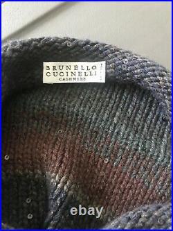 Brunello Cucinelli Cashmere Blend Sequin Embellished Sweater M