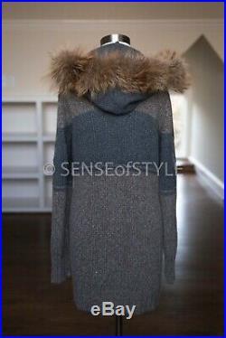 Brunello Cucinelli Cashmere fox fur cardigan sweater top size M