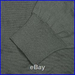 Brunello Cucinelli Green 100% Cotton Button Down Sweater IT 50 US 40 NEW