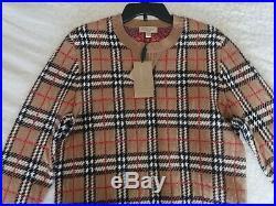 Burberry House Check Crewneck Cashmere Sweater Womens Size Medium