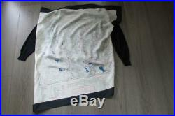 CELINE Map Print Scarf Knit Top Sweater Navy V-Neck Phoebe Philo Spring 2018 M