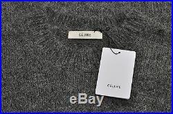CELINE by Phoebe Philo 999$ New Crew Neck Sweater In Gray Alpaca sz M