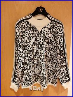 CHANEL Sweater Wool/ecru & Black Size 38/medium