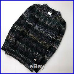 Chanel CASHMERE MOHAIR Wool Chunky Knit Sweater Jumper Pullover Size S FR 38 4 6