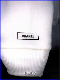 Chanel Sweatshirt sweater long sleeve off white uniform coco medium New Vintage