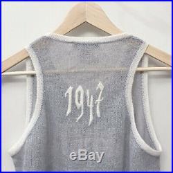 Christian Dior John Galliano Vintage RTW Runway SS Logo 1947 Sweater Vest 8 10 M