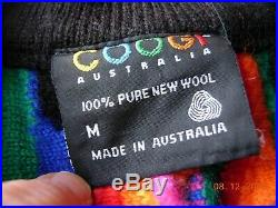 Coogi Sweater 100% pure new wool multi-colour vintage Christmas pit2pit 24 M