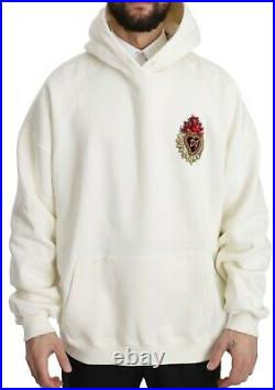 DOLCE & GABBANA Sweater DG Crystal Heart Oversized Hooded IT48/ US38/M RRP $1600