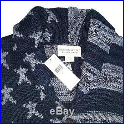 Denim & Supply Ralph Lauren Americana U. S. A Cardigan Sweater Blue