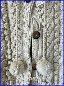 Doen Pomme Sweater NWT Size M Cream Cotton
