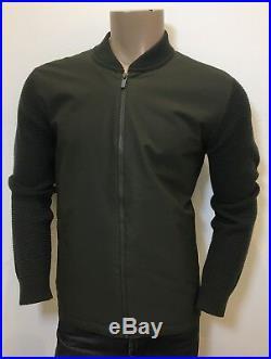 Ermenegildo Z ZEGNA Hybrid Olive / Khaki Green Jumper Sweater Jacket RRP£595.00