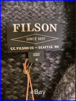 Filson Handmade Wolf Pass Pullover Cowichan Sweater Men's Size M NWT MSRP $595