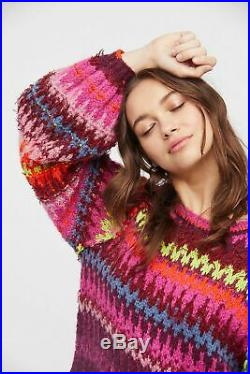 Free People NWT Size Medium Castles In The Sky Sweater NEW