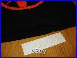 Free Shipping Vlone Fragment Friends Long Sleeve Hoody Sweater Black Orange Sz M