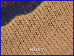 GUCCI Crew Neck Knit Tops Sweater Wool Alpaca Navy Blue Brown Italy Men M